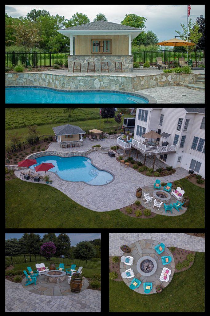 Backyard Oasis, Outdoor Living, Pools, Construction
