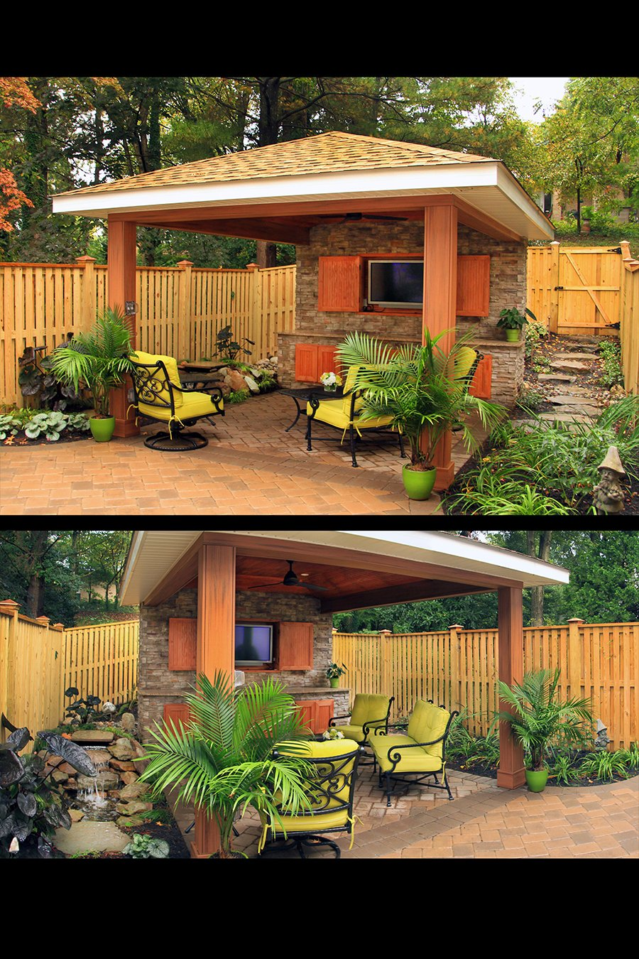 Custom Outdoor Living Kitchen Backyard in Howard County